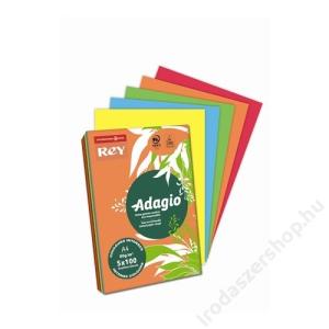 REY Másolópapír, színes, A4, 80 g, 5x100 lap, REY Adagio, intenzív mix (LIPAD48IX)