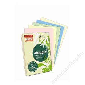 REY Másolópapír, színes, A4, 80 g, 5x100 lap, REY Adagio, pasztell mix (LIPAD48PX)