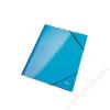 Leitz Gumis mappa, 15 mm, karton, A4, lakkfényű, LEITZ, kék (E39820036)