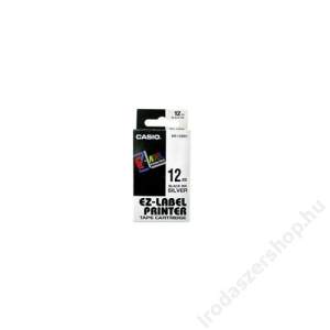 Casio Feliratozógép szalag, 12 mm x 8 m, CASIO, fehér-fekete (GCKR-12WE1)