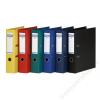 DONAU Iratrendező, 75 mm, A4, PP, élvédő sínnel, DONAU Premium, citromsárga (D3975S)