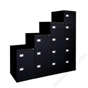 VICTORIA Függőmappatároló fémszekrény, 2 fiókos, VICTORIA, fekete (BICCA16)