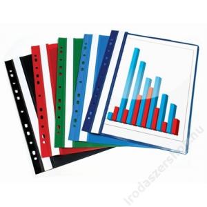 VICTORIA Gyorsfűző, lefűzhető, PP, A4, VICTORIA, fekete (INV4130701)