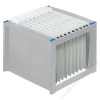 HELIT Függőmappa tároló, műanyag, HELIT, világosszürke-kék (INH6110084)