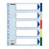 ESSELTE Regiszter, műanyag, A4 Maxi, 5 részes, ESSELTE (E15266)