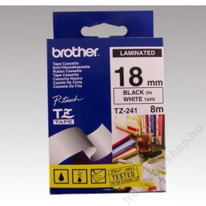Brother Feliratozógép szalag, 18 mm x 8 m, BROTHER, fehér-fekete (QPTTZ241)