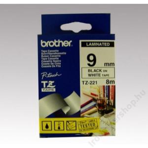 Brother Feliratozógép szalag, 9 mm x 8 m, BROTHER, fehér-fekete (QPTTZ221)