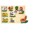 Fa játék: Fogantyús puzzle (bárányos)