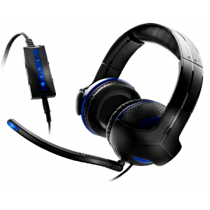 THRUSTMASTER Y-250P PS3 Gaming Headset Black/Blue Headset,2.0,USB,Kábel:5,2m,10 Hz-25 kHz,Mikrofon,Black/Blue