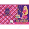 UNIPAP Füzet, tűzött, A5, vonalas, 32 lap, 2. osztály, UNIPAP Barbie glitter (UN1011V2)