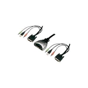 Conrad DVI - USB 2 portos átalakító Digitus switch