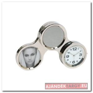 Circle asztali óra, ezüst