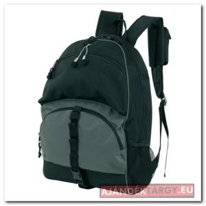 600D hátizsák, fekete/szürke