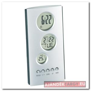 LCD ébresztőóra ezüst/szürke
