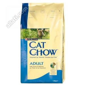 Purina Cat Chow Adult tonhallal és lazaccal 15kg