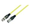 Conrad Mikrofonkábel 10 m, XLR dugó/hüvely, sárga, Paccs mikrofon