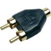 Conrad Highend RCA adapter, 2 x RCA dugó/1 x RCA hüvely, Sinus Live
