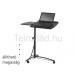 HAL-B14 görgős laptop asztal (állítható magasság, fekete)