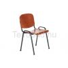 LIN-ISO Wood Nero tárgyalószék fa ülőfelülettel