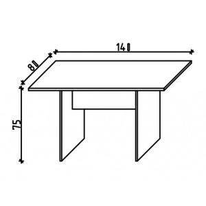 Ravenna i2 tárgyalóasztal (140 cm)