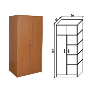 Ravenna 31 két ajtós akasztós és polcos irodaszekrény