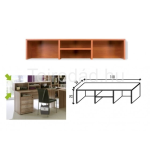 Malibu 36 pultelem íróasztalhoz (140 cm)