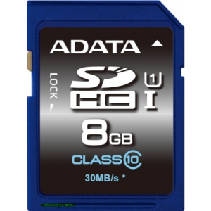 A-Data 8GB SDHC UHS-I Class 10