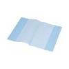 PANTA PLAST Panta Plast Füzetborító, A4, PP, 80 mikron, narancsos felület, PANTA PLAST, kék