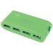 Conrad 4 portos USB 2.0 Hub tápegységgel, zöld, LogiLink UA0089