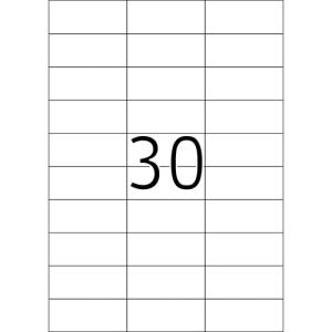 Fortuna ETIKETT FORTUNA 70X29, 6 UNIVERZÁLIS
