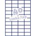 Avery ETIKETT AVERY 3651 52, 5x29, 7 UNIVERZÁLIS