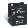 Multipower Ólom akku 12V 2,9Ah (Multipower) típus MP2,9-12