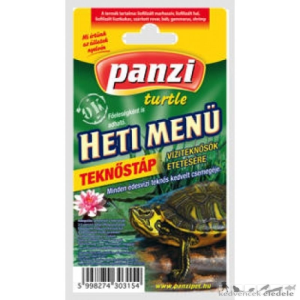 Panzi hetimenü teknős
