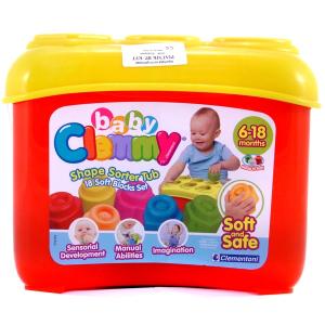 Clemmy Baby - 18 db-os formaválogató építőkocka készlet