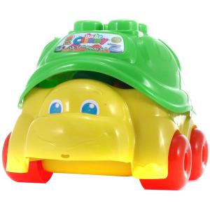 Clemmy Baby - 15 db-os építőkocka készlet teknőc tárolóban