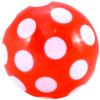 Piros pöttyös gumilabda - 28 cm