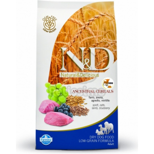 N&D Low Grain Dog Adult Mini Lamb & Blueberry 2 5 kg