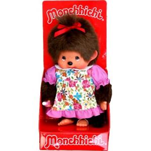 Moncsicsi virágos ruhás lány baba 20cm