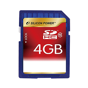Silicon Power SDHC 4GB Class 10