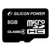 Silicon Power microSDHC 8GB Class 4