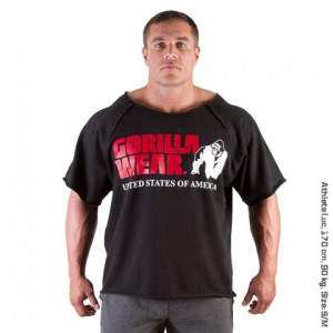 Gorilla Wear Classic Work Out Top Fekete