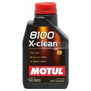 Motul 8100 X-clean 5W30 1 L motorolaj