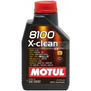Motul 8100 X-clean 5W40 1 L motorolaj