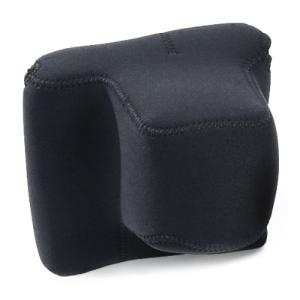 OPTech USA neoprén fényképezőgép-tok, DSLR+markolat, fekete