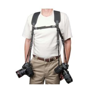 OPTech USA neoprén dupla fényképezőgép-hám, fekete