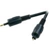 Conrad Optikai kábel, Toslink (ODT) dugó/3,5 jack dugó, 3 m, fekete, SpeaKa Professional 50111