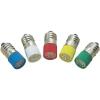 Conrad LED izzó, E10, 60 V, borostyán, T10 E10 Multi 4Chips Flat Lamp, Barthelme 70113366