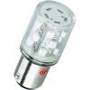 Conrad LED jelzőlámpa 15 db szuperfényes LED-del, BA15d, 24 V, kék, Barthelme 52190214