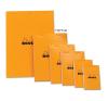 Clairefontaine Rhodia narancs jegyzetblokk  80lap  vonalas 11x17cm jegyzettömb