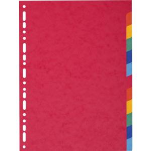 Exacompta elválasztó lap  A4  12db/csomag